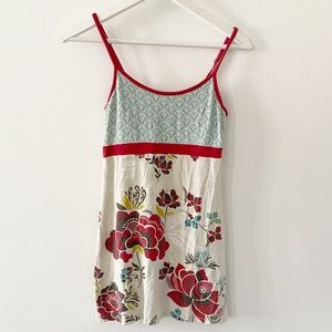 ATHLETA floral thank top with empire waist detail